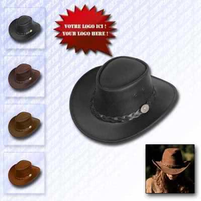 Chapeau cowboy luxe en cuir