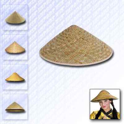 Chapeau chinois traditionnel en paille