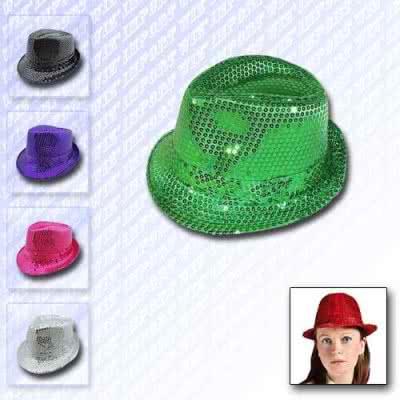 Chapeau disco à paillettes