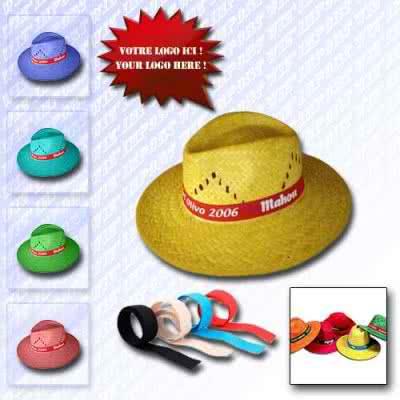 Chapeau de paille en couleur
