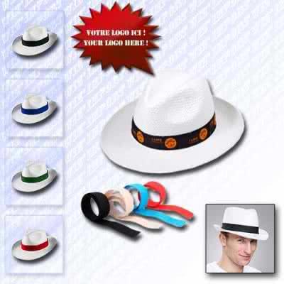 Chapeau panama traditionnel paille blanche